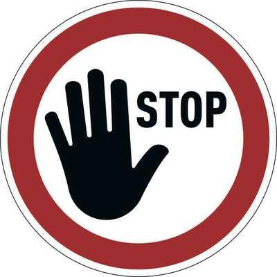 """Samoprzylepny znak """"STOP"""", usuwalny"""