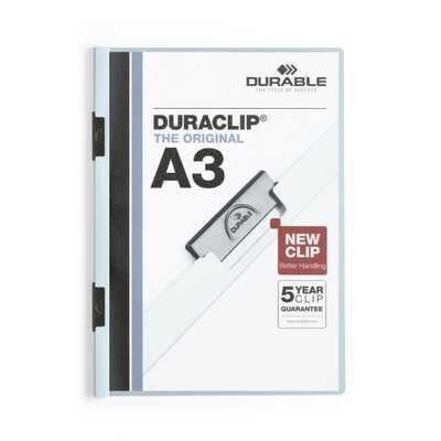 Skoroszyt zaciskowy Duraclip A3 1 - 60 nieb. Durable