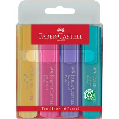 Zakreślacze 1546 4 kol. Pastelowe ,Faber-Castell