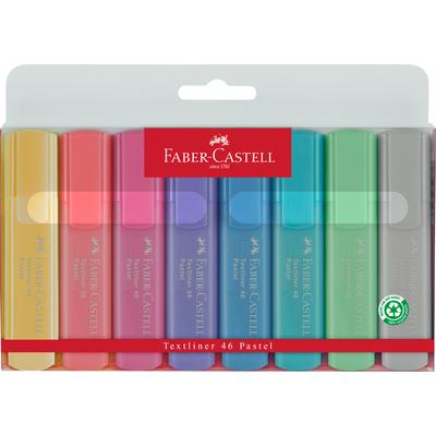 Zakreślacze 1546 8szt Pastelowe, Faber-Castell