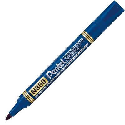 Marker Permanentny N850 Niebieski Okr.Końc. Pentel