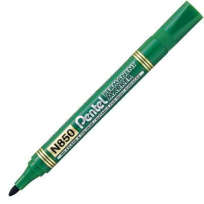 Marker Permanentny N850 Zielony Okr.Końc. Pentel