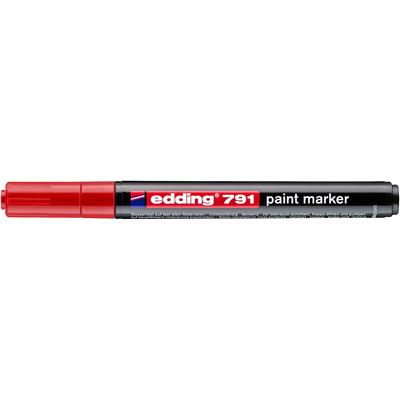 Marker olejowy Edding 791 czerwony 1-2 mm