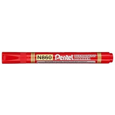 Marker permanentny N860 ścięta końcówka czerwony