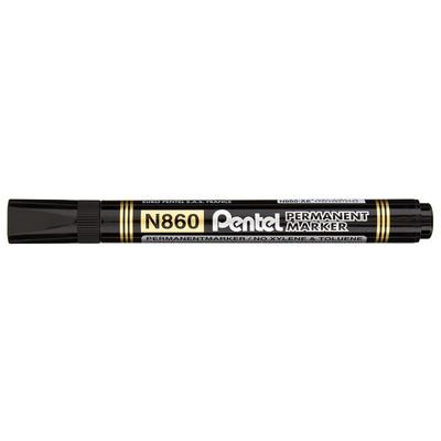 Marker permanentny N860 ścięta końcówka czarny