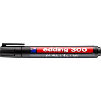 Marker pernamentny Edding 300 okr. koń. czarny