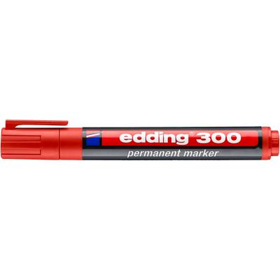Marker pernamentny Edding 300 okr. koń. czerwony