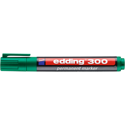Marker pernamentny Edding 300 okr. koń. zielony