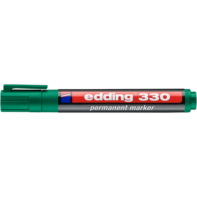 Marker pernamentny Edding 330 ścię. koń. zielony